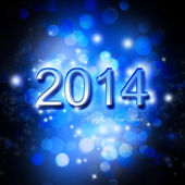 Festive New Year 2014 Card — Stock Photo