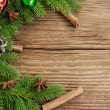 Christmas Holiday Frame Decoration — Stock Photo #34828425