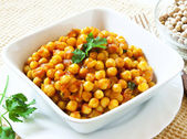 Chickpeas Stew with Parsley — Stock Photo