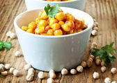 Chickpeas Curry with Parsley — Stock Photo