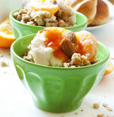 Bowl of Muesli with Yogurt and Fruits — Foto Stock