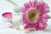 Flower Essential Oil Bottle — Stock Photo
