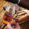 Stock Photo: Essential Oil with Cinnamon and Chocolate