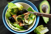 Avocado Salad with Seeds and Vegetables — Stock Photo