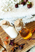 Essential Oils Aromatherapy.Spa Setting — Stock Photo