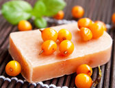 Sea Buckthorn Natural Soap — Stock Photo