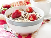 Strawberries with Muesli in a Bowl — Foto de Stock