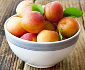 Ripe Apricots in a Bowl — Stock Photo