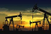 нефть насос джек в операции — Стоковое фото
