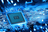 Integrated microchip — Stockfoto