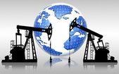 Global oil resources — Stock Photo