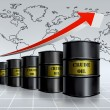 Crude oil growing — Stock Photo