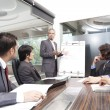 Young businessman giving presentation — Stock Photo #7209953