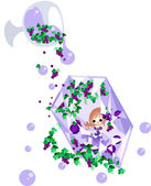 фея фиолетовый драгоценность — Cтоковый вектор