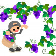 Grape Picking — Stock Vector
