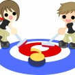Stockvector : Curling