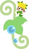 Fairy of the young leave — Stock Vector