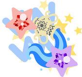 Horoscope -Aquarius- — Stock Vector