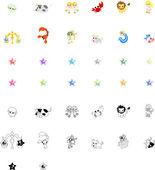 Horoscope Icons — Stock Vector