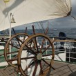 Wheel and parts sailing ship — Stock Photo