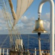 Royalty-Free Stock Photo: Sail and marine ship bell