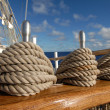 Tackle sailing ship — Stock Photo
