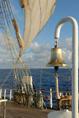 Sail and marine ship bell — Stock Photo