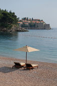 Beach Sveti Stefan in Montenegro — Stock Photo