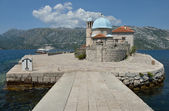 Gospa Od Skprjela and Sveti Djordje islands Montenegro — Stock Photo