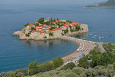 Sveti Stefan, small islet and resort in Montenegro. — Stock Photo