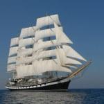 Sailing ship under full sail — Stock Photo