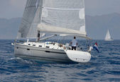 Speed sailing yacht — Foto Stock