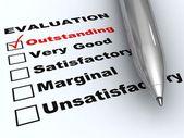 Outstanding evaluation — Stock Photo