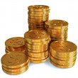 Stacked coins — Stock Photo