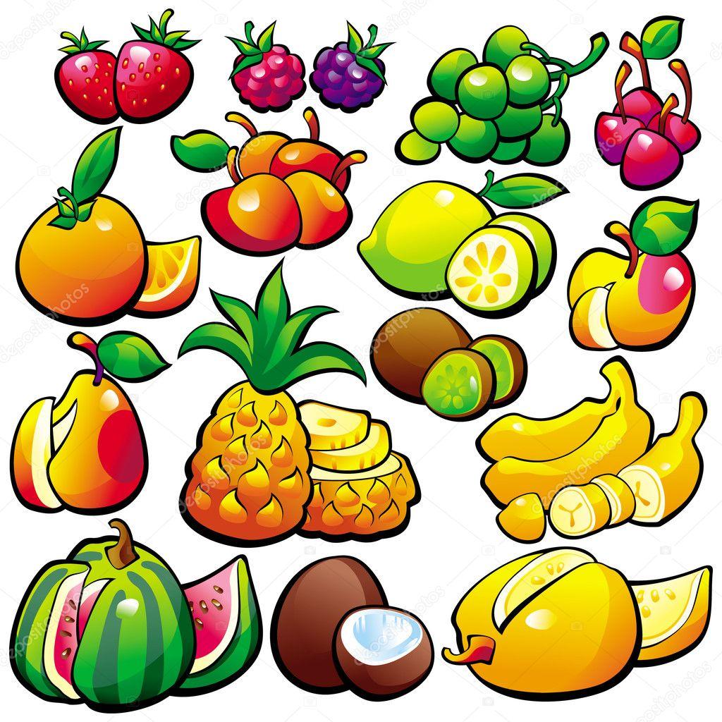 幼儿园水果宝宝卡通简笔图片