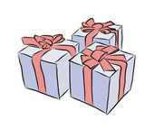 Gift box with red ribbon — Stock Vector