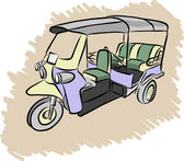 Tuktuk vector sketch — Stock Vector