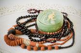 Set of necklace — Stock Photo