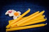 黄色の蝋燭 — ストック写真