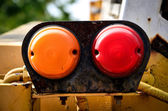 Rear lamp of tractor — Stock Photo