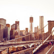 brooklyn bridge in new york — Stock Photo #13747062