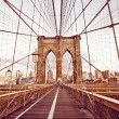 brooklyn bridge in new york — Stock Photo #13747078