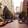 Manhattan bridge from Washington street — Stok fotoğraf