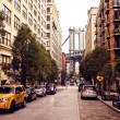 ponte di Manhattan da washington street — Foto Stock