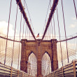 brooklyn bridge in new york — Stock Photo #13747886