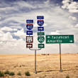 Stock Photo: Route 66 intersection signs