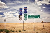 Route 66 intersection signs — Stock Photo