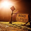 Road closed sign — Stock Photo #13863007