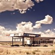 Old gas station in ghost town along the route 66 — Stock Photo #13863063