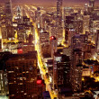 Aerial view of Chicago downtown — Stock Photo